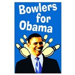 Bowlers for Obama large poster