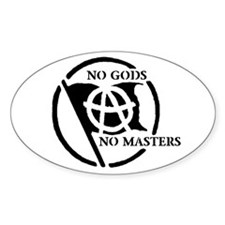 NO GODS NO MASTERS Oval Decal