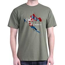 Map Of Croatia T-Shirt