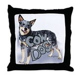 cow dog Throw Pillow