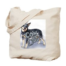 cow dog Tote Bag