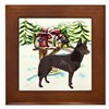 Kelpie Christmas Framed Tile