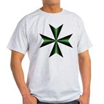 Green Maltese Cross Men's T-Shirt