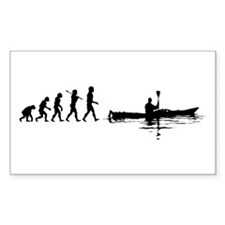 Kayaking Rectangle Sticker 10 pk)