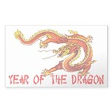 Year of the Dragon Rectangle Decal