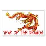 Year of the Dragon Rectangle Sticker 50 pk)