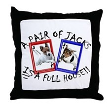 "Jack Russell ""Full House"" Throw Pillow"