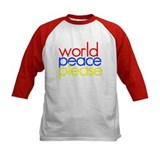 Kids world peace plaease Baseball Jersey