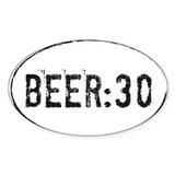 Beer:30 Oval Decal