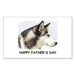 HAPPY FATHER'S DAY Rectangle Sticker 50 pk)