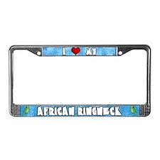 Love African Ringneck License Plate Frame (Male)