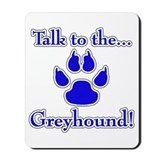 Grey Talk Blue Mousepad