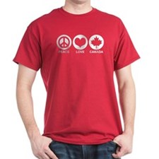 Peace love Canada T-Shirt