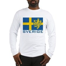 Sverige Flag Long Sleeve T-Shirt