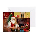 Santa's Beagle Greeting Card