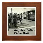 L.A. Police Video Unit Framed Tile