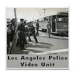 L.A. Police Video Unit Tile Coaster