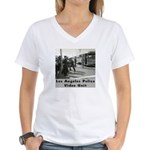 L.A. Police Video Unit Women's V-Neck T-Shirt