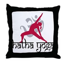 Hatha Yoga Throw Pillow