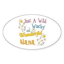 Wild Wacky Nana Oval Sticker (50 pk)