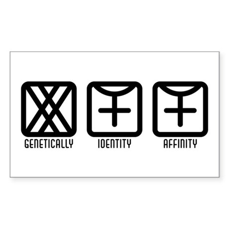 FemaleFemale to Female Rectangle Sticker 10 pk)