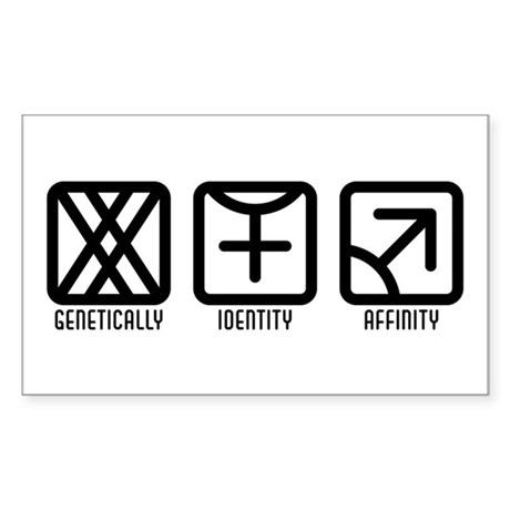 FemaleFemale to Male Rectangle Sticker 10 pk)