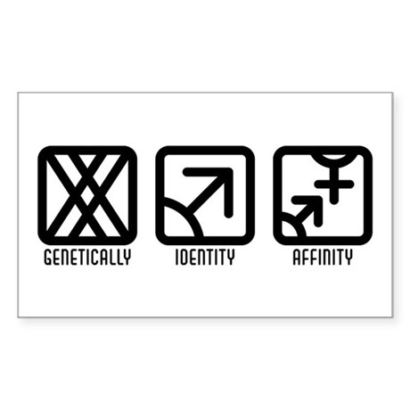 FemaleMale to Both Rectangle Sticker 50 pk)