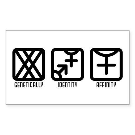 FemaleBoth to Female Rectangle Sticker 50 pk)