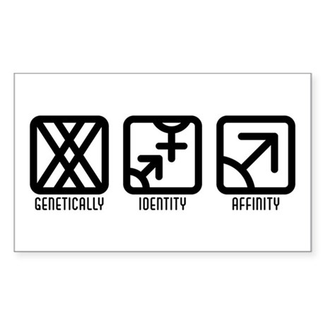 FemaleBoth to Male Rectangle Sticker 50 pk)