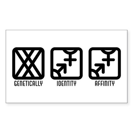 FemaleBoth to Both Rectangle Sticker 50 pk)