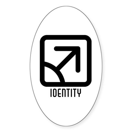 Identity : Male Oval Sticker (10 pk)