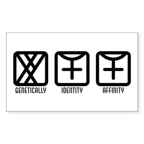 MaleFemale to Female Rectangle Sticker 10 pk)