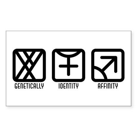 MaleFemale to Male Rectangle Sticker 50 pk)
