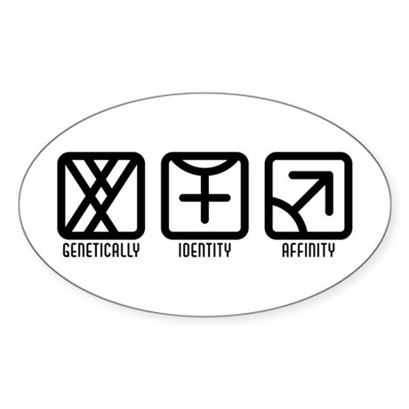 MaleFemale to Male Oval Sticker (10 pk)