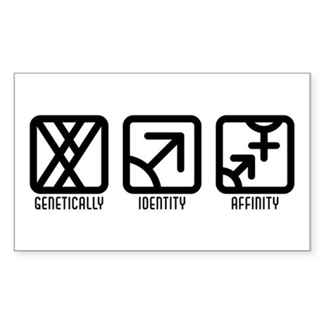 MaleMale to Both Rectangle Sticker 10 pk)