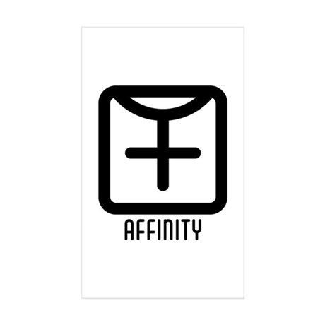 Affinity : Female Rectangle Sticker 50 pk)