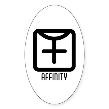 Affinity : Female Oval Sticker (10 pk)