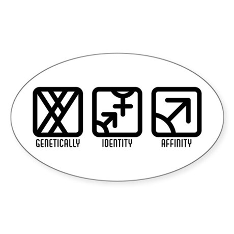 MaleBoth to Male Oval Sticker (10 pk)
