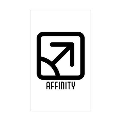 Affinity : Male Rectangle Sticker 50 pk)