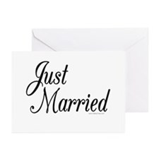"""Just Married"" Greeting Cards (Pk of 10)"
