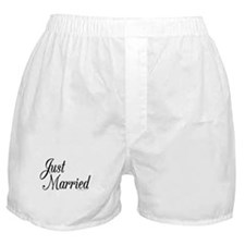 """Just Married"" Boxer Shorts"