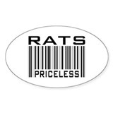 Rats Priceless Bar Code Oval Sticker (50 pk)