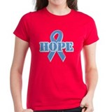 Lt Blue Hope Ribbon Tee