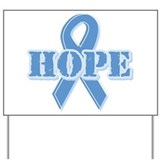Lt Blue Hope Ribbon Yard Sign