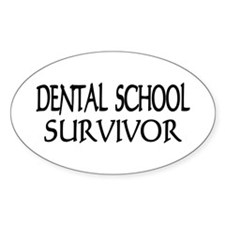 Dental School Graduation Oval Sticker (10 pk)