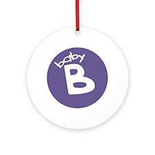 baby B Keepsake Ornament (Round)