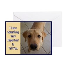 Yellow Lab Birthday Greeting Card