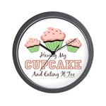 Having My Cupcake Eating It Too Wall Clock
