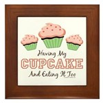 Having My Cupcake Eating It Too Framed Tile