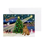 XmasSunrise/Shar Pei Greeting Card